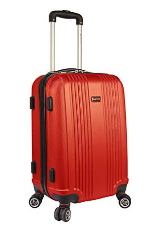 Mancini Santa Barbara Lightweight Carry-on Spinner Luggage in Red