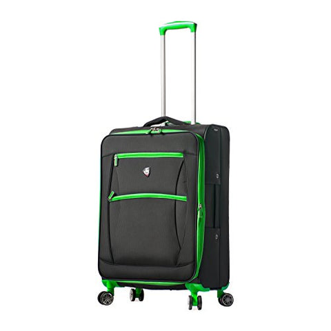 Mia Toro Italy Piuma Softside 24 Inch Spinner Luggage-Green