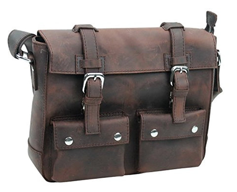 "Vagabond Traveler 13.5"" Cowhide Leather Messenger Shoulder Bag Lm07.Vd"