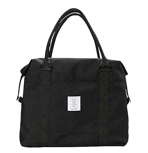 [Black-1] Simple Style Travel Tote Bag Duffel Bag Handbag Sports Shoulder Bag