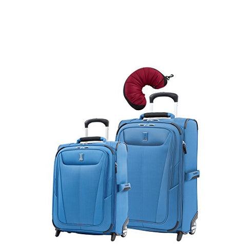 "Travelpro Maxlite 5 | 3-Pc Set | Int'L Carry-On & 22"" Carry-On Exp. Rollaboard With Travel Pillow"