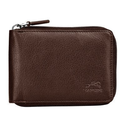 San Diego Men's Zippered Wallet Color: Brown
