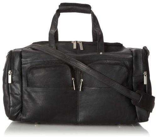 David King & Co. 19 X 9.5 Inch Multi Pocket Duffel, Black, One Size