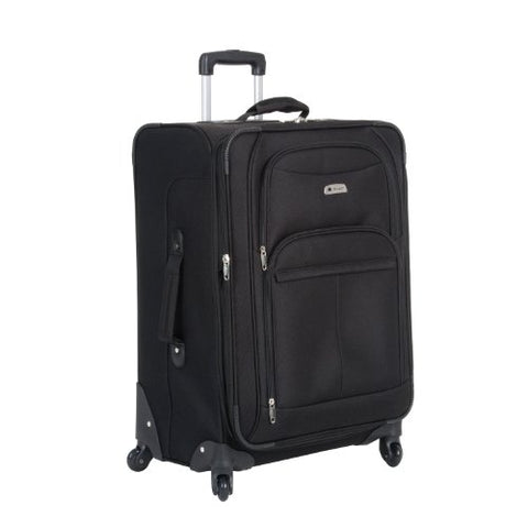 Delsey Luggage Illusion Spinner 25 Inch Expand Trolley, Black, One Size