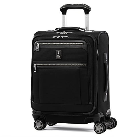 "Travelpro Luggage Platinum Elite 20"" Carry-On Intl Expandable Spinner W/Usb Port, Shadow Black"