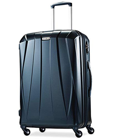"Samsonite Vibratta 25"" Polycarbonate Hardside Expandable Spinner Luggage Teal"