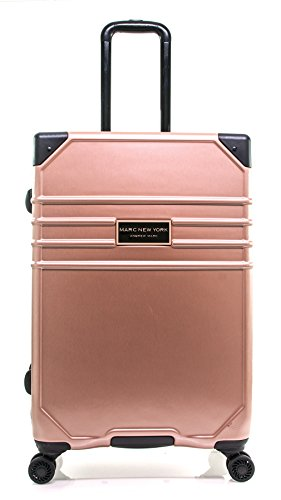 "Marc New York Classic 24"" Expandable Hardside Spinner, Rose Gold"