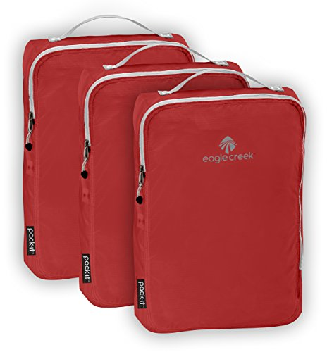 Eagle Creek Pack-it Specter Cube Set-3pc Set (Medium), Volcano Red