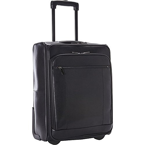 "GOODHOPE Bags the Precision Leather 20"" Computer/Tablet Carry-On, Black"