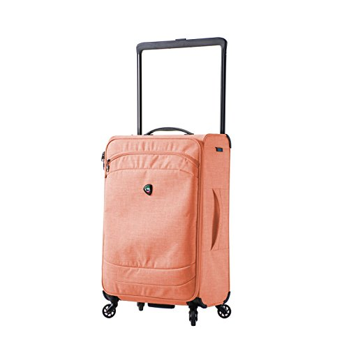 Mia Toro M1127-24in-Org Italy Kitelite Strato Softside 24 inch Spinner, Orange