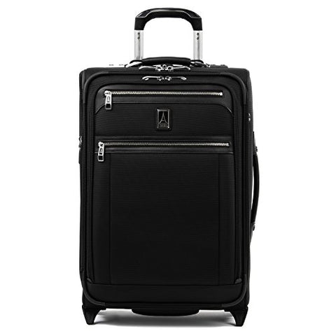 "Travelpro Luggage Platinum Elite 22"" Carry-On Expandable Rollaboard W/Usb Port, Shadow Black"