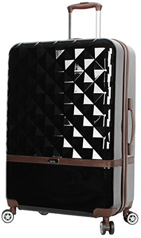 "Nicole Miller New York Madison Collection Hardside 28"" Luggage Spinner (Black)"