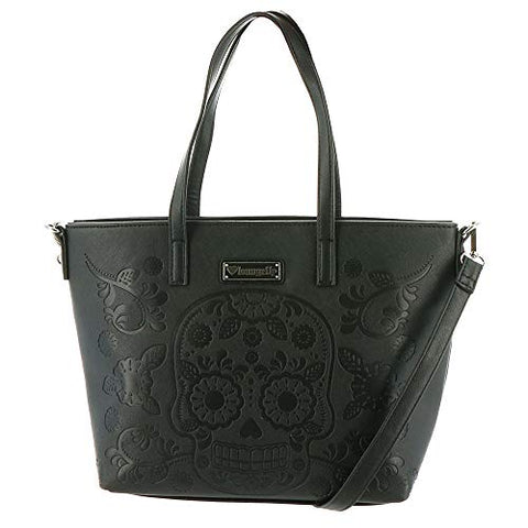 Loungefly Sugar Skull Tote Black-Grey