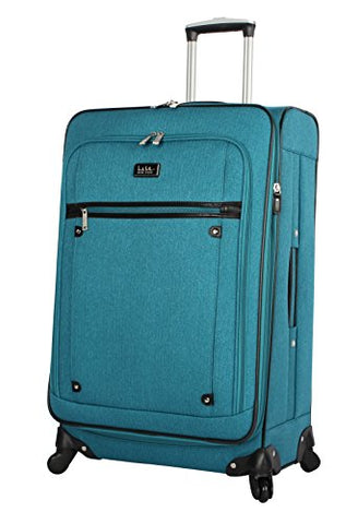 "Nicole Miller New York Rosalie Collection 24"" Expandable Luggage Spinner (Teal)"