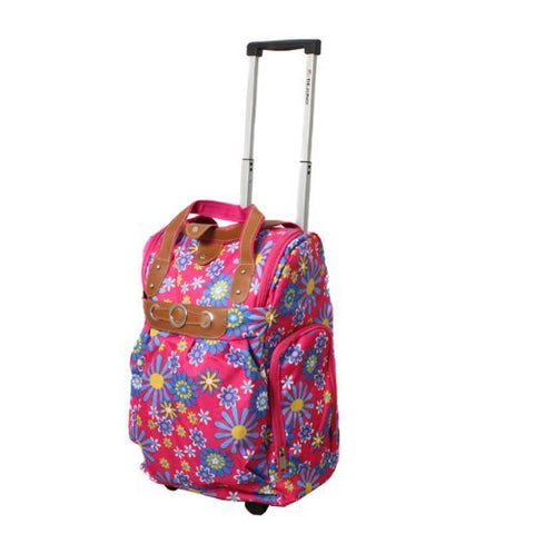 "Dejuno Lightweight 20"" Easy Travel Collection Rolling Carry-On Luggage - Sunflower"