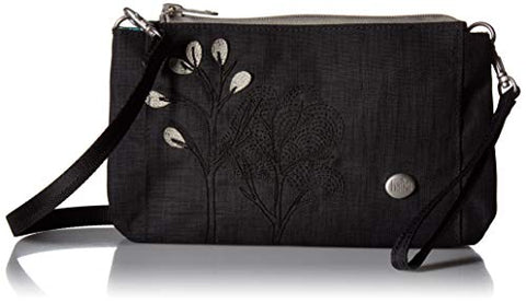 Haiku Stride Wristlet and Crossbody Bag, Black Morel