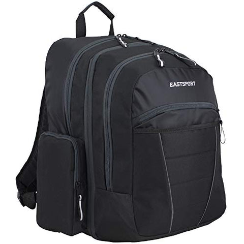 Eastsport Multipurpose Expandable Backpack with Multiple Compartments and External USB Charging