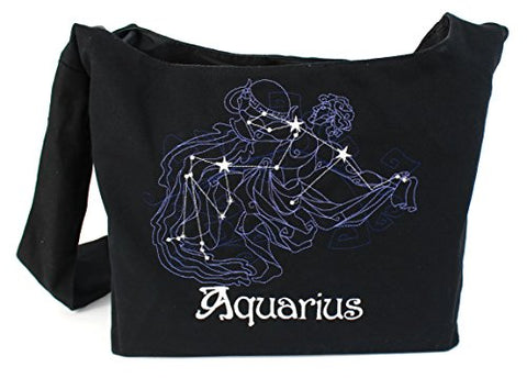 Dancing Participle Aquarius Embroidered Sling Bag
