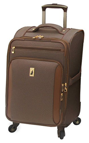 London Fog Kensington 21 Inch Expandable Spinner Carry-on, Bronze