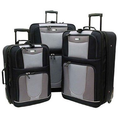 Geoffrey Beene Carnegie 3 Piece Set, Black/Gray, One Size