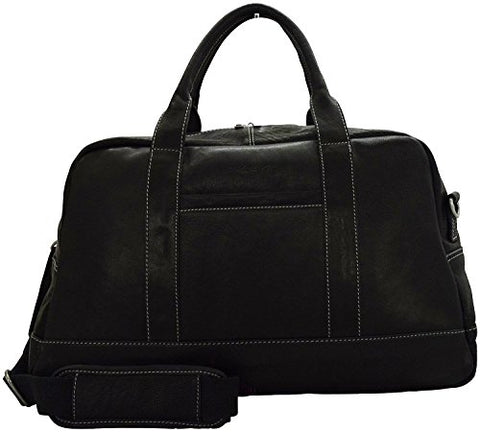 "Kenneth Cole New York Leather 20"" Top-Zip Duffel (Black)"