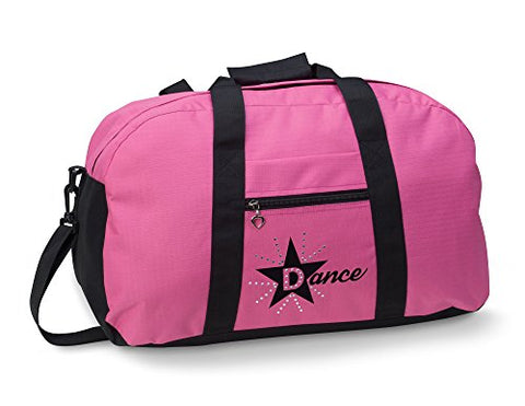Dansbagz By Danshuz Women's Star Dance Duffel Bag, Pink, OS
