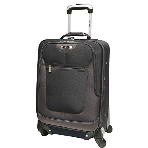 Skyway Epic 20 Inch Expandable 4-Wheel Carry-On, Black, One Size