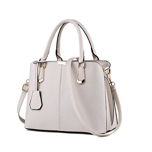 S Kaiko PU Leather Shoulder Bag Hand Bag for Women and Girls Hand Bag Tote Bag with Adjustable Strap (white)