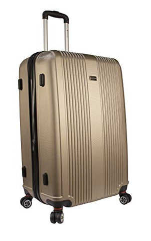 "Mancini Santa Barbara 28"" Lightweight Spinner Luggage in Champagne"