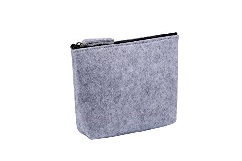 Handy Felt Zippered Cosmetic Makeup Bag Pouch Clutch Organizer