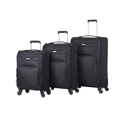 Travel Hardside Luggage 20in 24in 28in Lightweight Suitcase 3 Piece Luggage Nested Sets With TSA Lock Oxford Fabric Softside Carry-on Expandable Uprights Suitcase Softshell 360° Silent Spinner Multidi