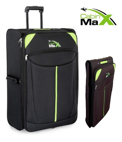 Cabin Max Global - Extra Large Lightweight Folding Trolley Suitcase Luggage