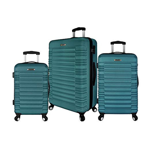 Elite Luggage Tustin 3 Piece Hardside Spinner Luggage Set (Teal)
