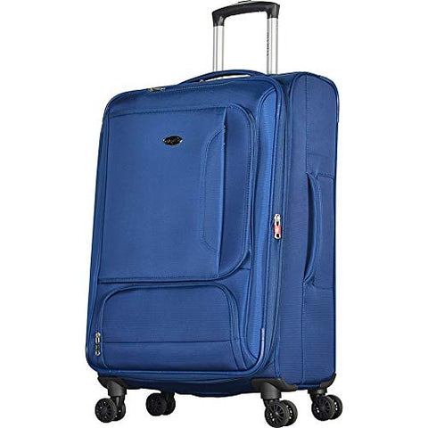 "Olympia USA Petra 27"" Expandable Checked Spinner Luggage (Navy)"