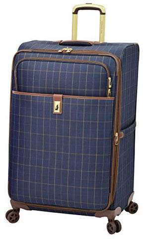 "London Fog Kensington II 29"" Expandable Spinner, Navy Window Pane"