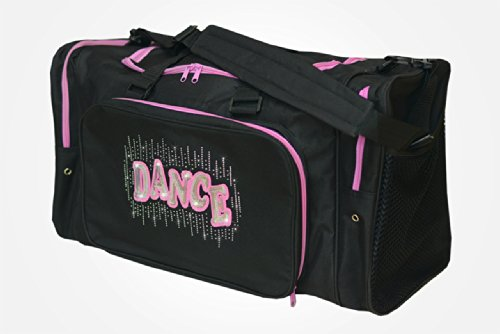 "Sassi Designs Bling Dance 22"" Black Duffel Bag"