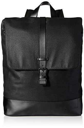 Calvin Klein Men's Calvin Klein Coated Canvas Backpack, black, One Size