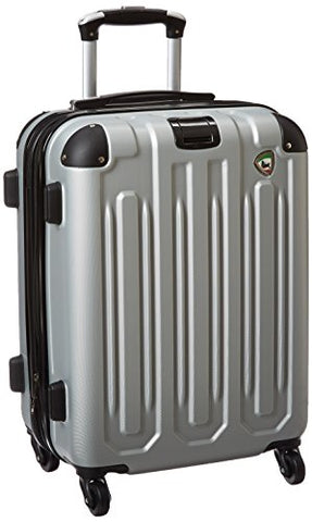 Mia Toro Regale Composite Hardside Spinner Carry-On, Grey, One Size