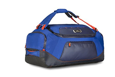 High Sierra At8 Duffel Backpack, Sapphire/Red Line/True Navy, 26""