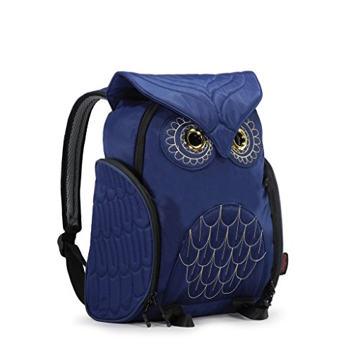 Darling's Owl Padded Straps Quilted Daypack / Backpack - Medium - Navy