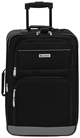 Leisure Luggage 21'' Expandable Upright Luggage Luggage 21 Inches Black