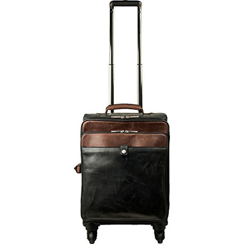 Scully Unisex Aaron Wheeled Carry-On Black/Brown Handbag