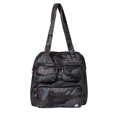 Lug Women'S Puddle Jumper Packable Duffel Bag, Camo Black, One Size