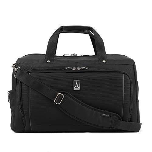 Travelpro Crew Versapack Weekender Carry-on Duffel Bag W/Suiter, Jet Black, One Size