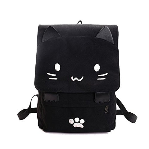Dansoul Casual Knapsack Cartoon Cat Handbag Shoulders Bag Travel Bag For Girls&Women (Pink)