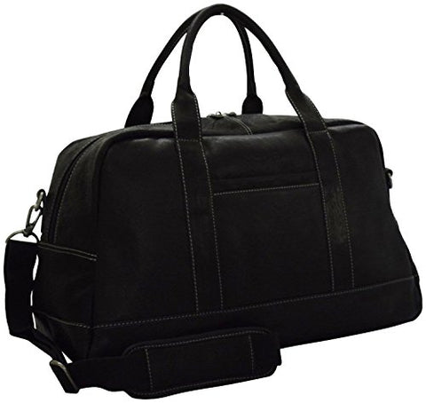 "Kenneth Cole Reaction Leather 20"" Duffel Bag-Carry-On Luggage (Black)"