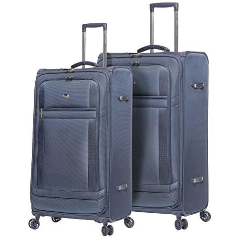 Lightweight Large Luggage Sets 2 piece - Reinforced Suitcases Set (Navy)