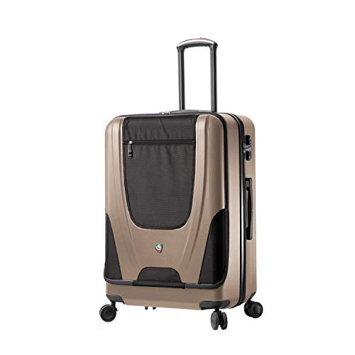 Mia Toro Italy Ibeido Hardside 27 Inch Spinner Luggage,Champagne