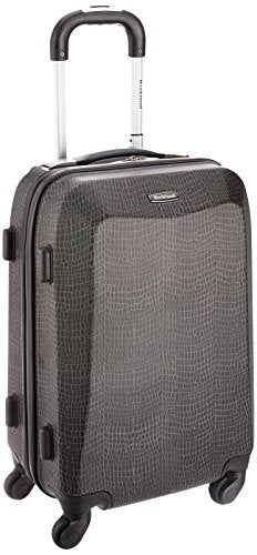 Rockland 20 Inch Polycarbonate Carry On, Crocodile, One Size