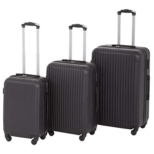 Luggage Sets 3 Piece Suitcase Spinner Travel Carry Eco-friendly with Password Lock Lightweight Durable,Black